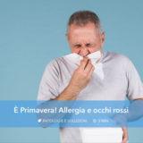 Allergia e occhi rossi in primavera